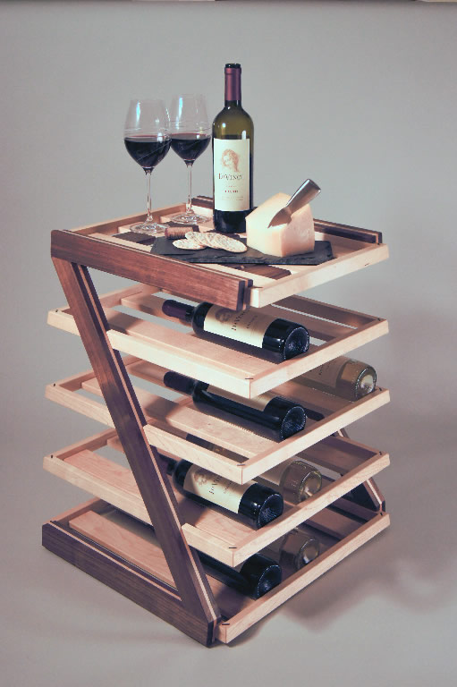 Custom Wine Rack And Serving Table By Da Vinci Remodeling