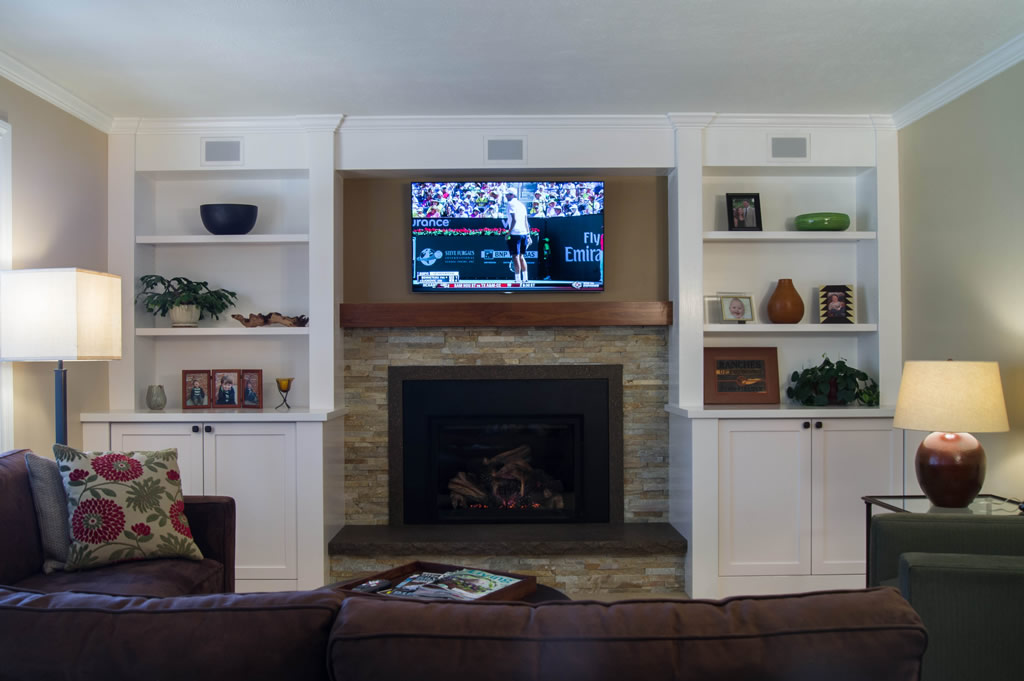 Family Room Remodel In Centennial DaVinci Remodeling - Built in cabinets entertainment center design pictures remodel