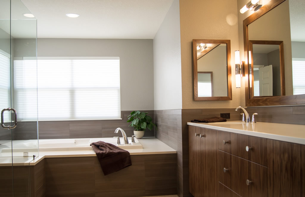 Modern bath remodel highlands ranch co da vinci remodeling for Bathroom remodel greenwood in
