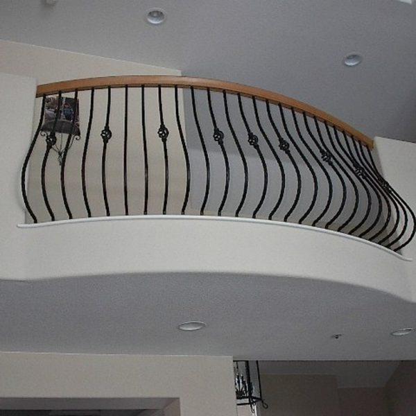 upstairs balcony wrought iron railing