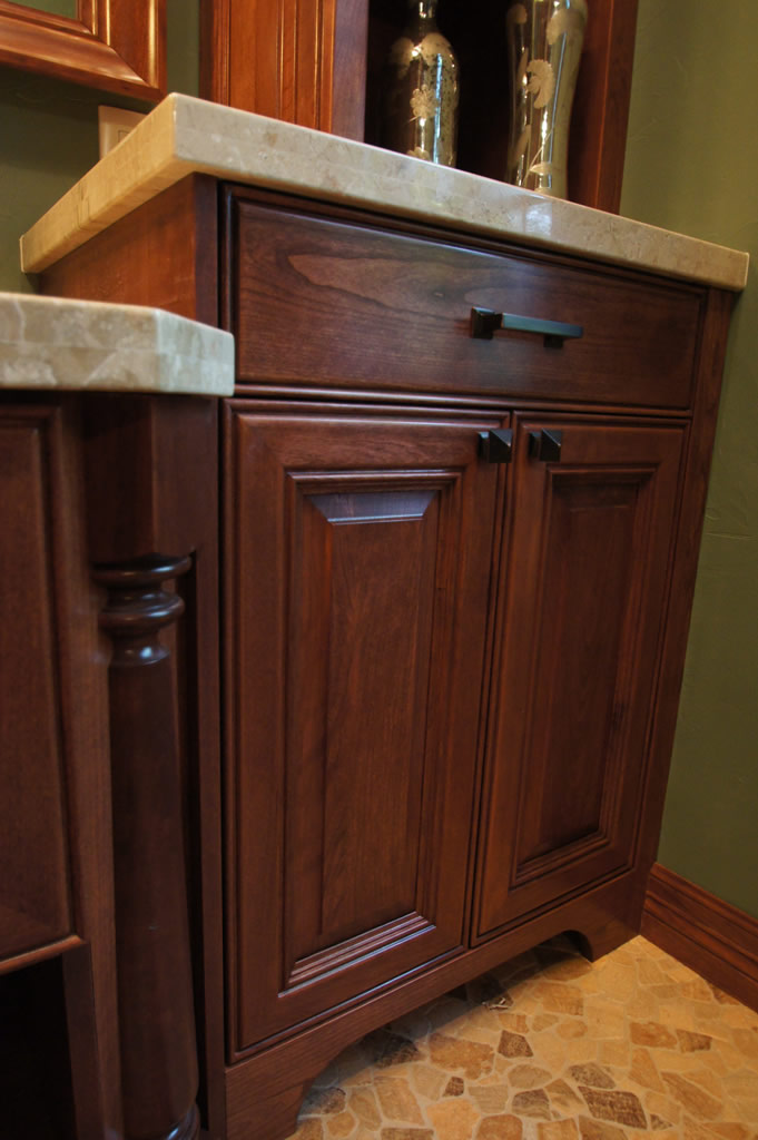 Traditional Cherry Bathroom Cabinetry