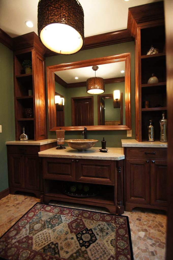 Updated bath to fit with the library davinci remodeling colorado for Bathroom remodel greenwood in