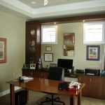 custom cherry cabinetry for a home office