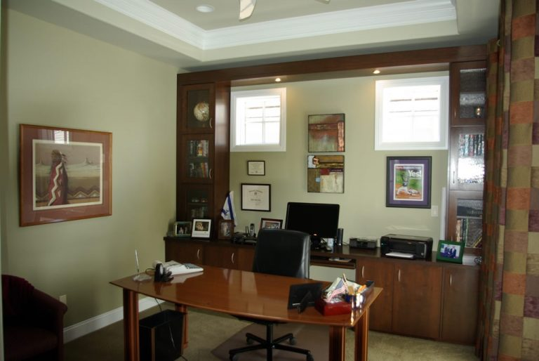Office custom Cabinetry - custom cherry cabinetry for a home office