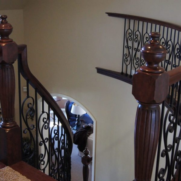 custom cherry staircase remodel