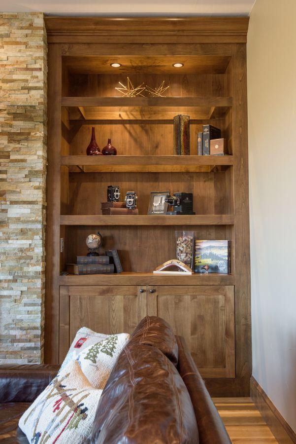 custom alder cabinetry