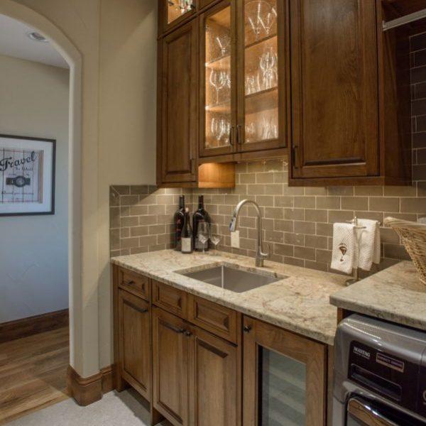 butler's pantry remodel with custom alder cabinetry